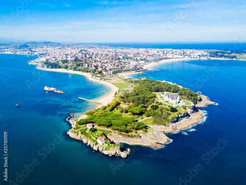 Santander city aerial view, Spain