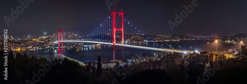 Billede på lærred Bosphorus Panorama. Bosphorus bridge in Istanbul Turkey