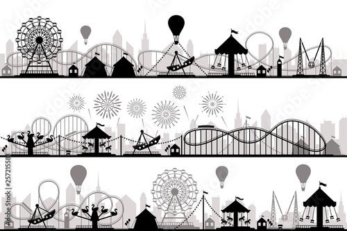 Stampa su Tela Amusement park landscape
