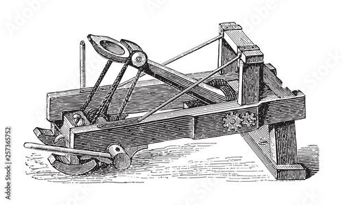 Photo Catapult / vintage illustration from Brockhaus Konversations-Lexikon 1908