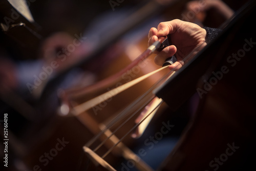 Woman performing on a cello Fototapete