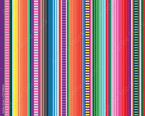 Fototapeta seamless mexican rug pattern. serape stripes vector