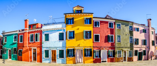 Canvas Print burano - famous old town - italy
