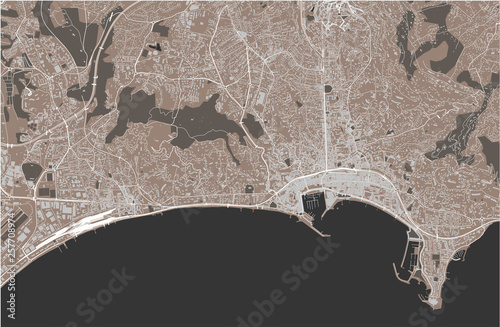 Wallpaper Mural map of the city of Cannes, France