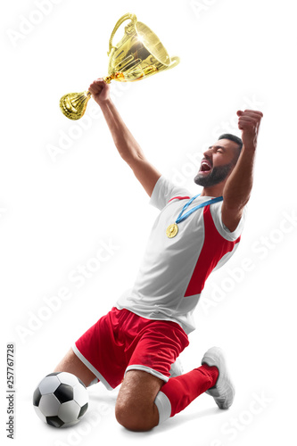 Fotografia Professional soccer player celebrates winning
