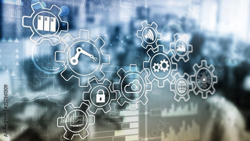 Fotografia Technology innovation and process automation. Smart industry 4.0.