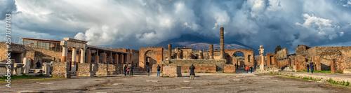 Canvas Print Ruins of Pompeii near Naples, Italy