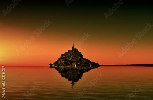 Fotografie, Obraz Mont Saint Michel Composing