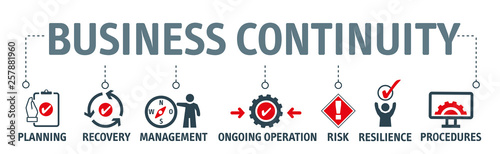 Valokuva Banner Business continuity planning concept