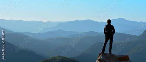 Fotografie, Tablou Watching the mountains