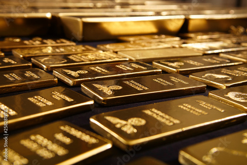 Fotografie, Obraz Hundreds kilos of gold stolen during war in Europe found on unknown place