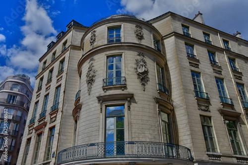 Paris; France - april 2 2017 : boulevard des Capucines Fototapet