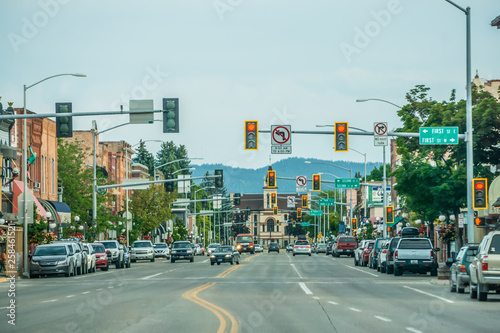 Wallpaper Mural kalispell montana city streets and architecture