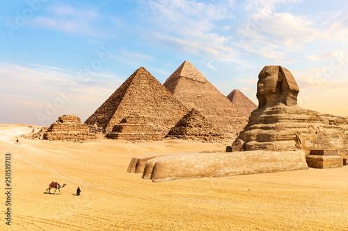 Obraz na plátně The Pyramids of Giza and the Great Sphinx, Egypt