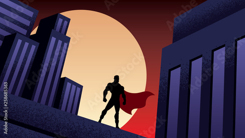 Fotografija Superhero City Night