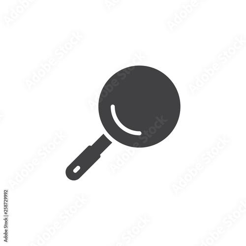 Carta da parati Frying pan top view vector icon