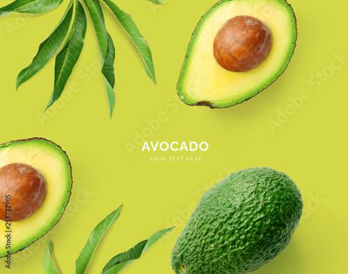 Fotografía Creative layout made of avocado