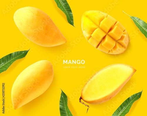 Canvas Print Creative layout made of mango