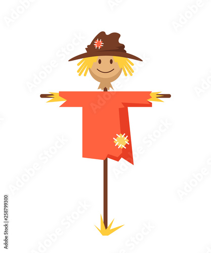Fotografia Happy smiling scarecrow character