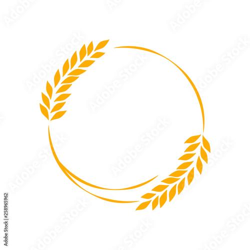 Fényképezés Agriculture wheat Logo