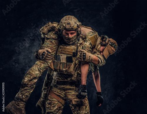 Fotografia Combat conflict, special mission, retreat