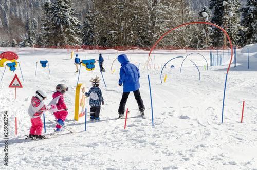 Photo Skiing lessons for children at ski resort Krasnaya Polyana Russia