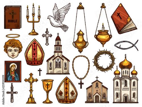 Christianity religion orthodox, catholic symbols