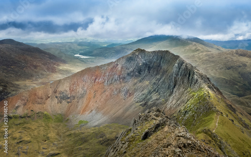 Canvas Print Girb Goch in Snowdonia National Park- Wales, UK