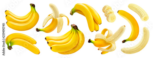 Fotografía Banana isolated on white background with clipping path