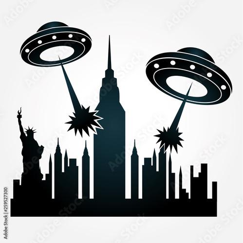 Obraz na plátne Ufo Invasion
