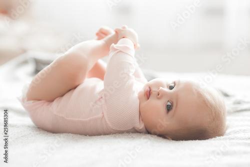 Adorable little baby portrait Fototapeta