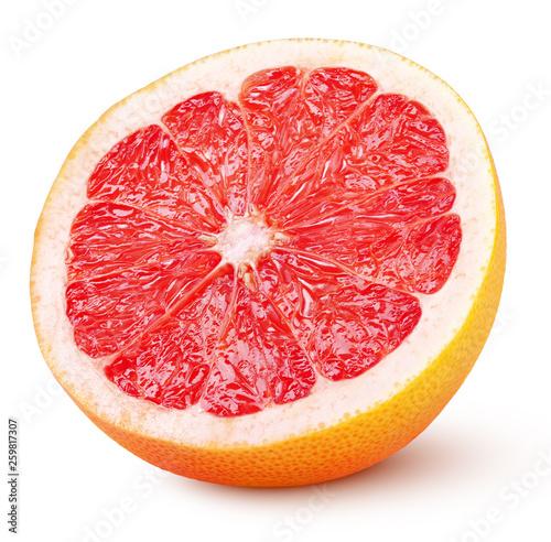 Half grapefruit citrus fruit isolated on white background with clipping path Fototapeta