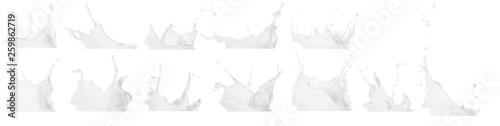 Wallpaper Mural Milk splash isolated on white background