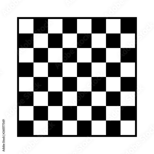 Tablou Canvas 8x8 checker or chess board / chessboard black and white vector with border