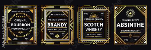 Obraz na płótnie Art deco alcohol label