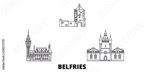 Fényképezés France, Belfries flat travel skyline set