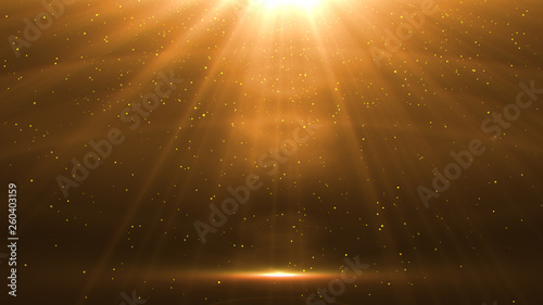 Fotografie, Obraz abstract glowing light sun burst with digital lens flare background