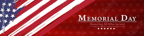 Obraz na plátně memorial day  background,united states flag, with respect honor and gratitude po