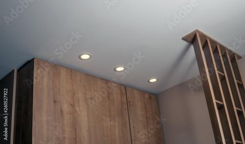 Photo Illumination lights in the modern room