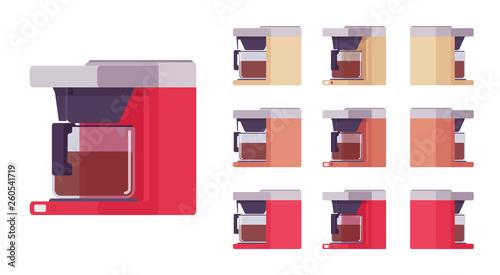 Stampa su Tela Coffee machine set, kitchen and cafe equipment