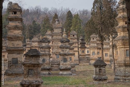 Fototapeta Talin Pagodas, It's memorial of the high priest of Shaolin temple