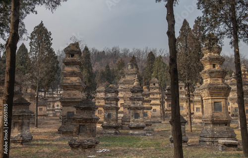 Talin Pagodas, It's memorial of the high priest of Shaolin temple Fototapeta