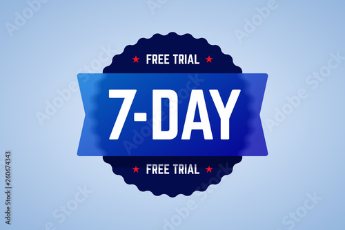 Obraz na plátně The 7 days free trial emblem