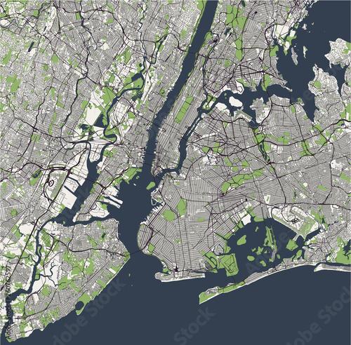 Photo map of the New York City, NY, USA