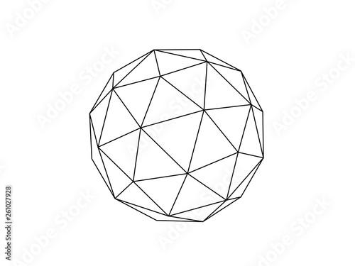 Geodesic sphere illustration vector Fototapete