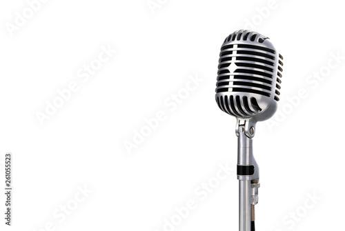 Vintage microphone with copyright area Fototapeta
