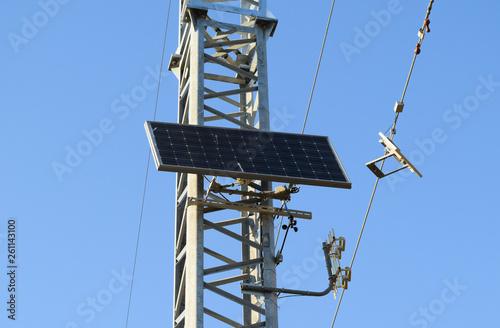 Solar cells to provide power transmission antenna Fototapet