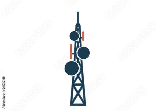 Photo telecommunication tower with antennas