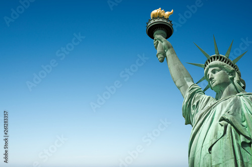 Canvas Print Close up of the Statue of Liberty in New York, USA
