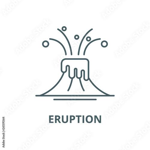 Eruption line icon, vector. Eruption outline sign, concept symbol, illustration Fototapete
